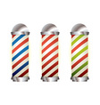 collection barbers pole vector image vector image