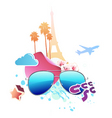 vector illustration of funky abstract summer backg vector image vector image