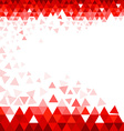 Abstract Red Triangle Background vector image vector image