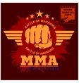 Fight club MMA Mixed martial arts vector image