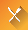 Fork and knife vector image vector image
