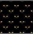cat golden eye seamless on black background vector image