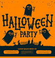 halloween party invitation card halloween party vector image
