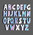 multicolored marble letters vector image