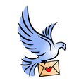 Post pigeon vector image