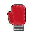 scribble boxin glove cartoon vector image