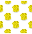 Yellow Coins Seamless Background vector image