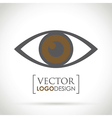 abstract eye icon brown vector image vector image