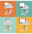 gadgets clouds mobile apps design vector image