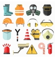 Safety work icons Safety at work icons vector image
