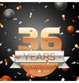 Thirty six years anniversary celebration vector image