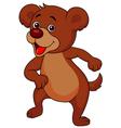 Baby bear cartoon dancing vector image vector image