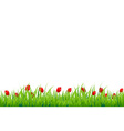 Red Tulip Border vector image vector image