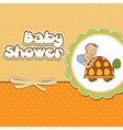 funny baby boy announcement card vector image