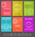 Set of abstract template flyer page design with vector image
