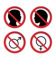 No Man and Woman Sign vector image