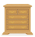 chest of drawers 02 vector image vector image