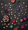 decorative cosmetics make up accessories beauty vector image