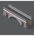Isometric drawing of a stone bridge vector image