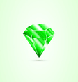 emerald isolated vector image