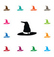 isolated witch icon wizard element can be vector image