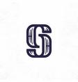 modern professional sign logo gj monogram vector image
