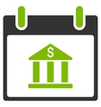 Bank Building Calendar Day Flat Icon vector image