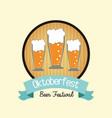 beer drink oktoberfest design vector image