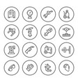 set round line icons of welding vector image