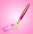 Valentines ink pen icon vector image