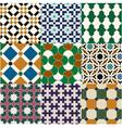 seamless moroccan islamic tile pattern vector image