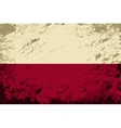 Polish flag Grunge background vector image
