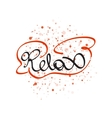 Relax lettering word vector image vector image