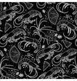 Graphic shrimps pattern vector image