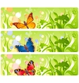Butterflies in grass banners vector image