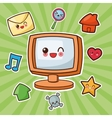Kawaii cartoon Technology and Social media vector image