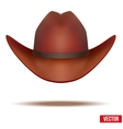 Brown cowboy hat Isolated on white background vector image