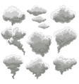 Cartoon smoking fog clouds vector image