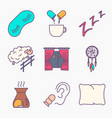 collection of sleep and insomnia icon vector image