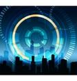 Futuristic City Background vector image