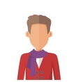 Young Man Private Avatar Icon vector image
