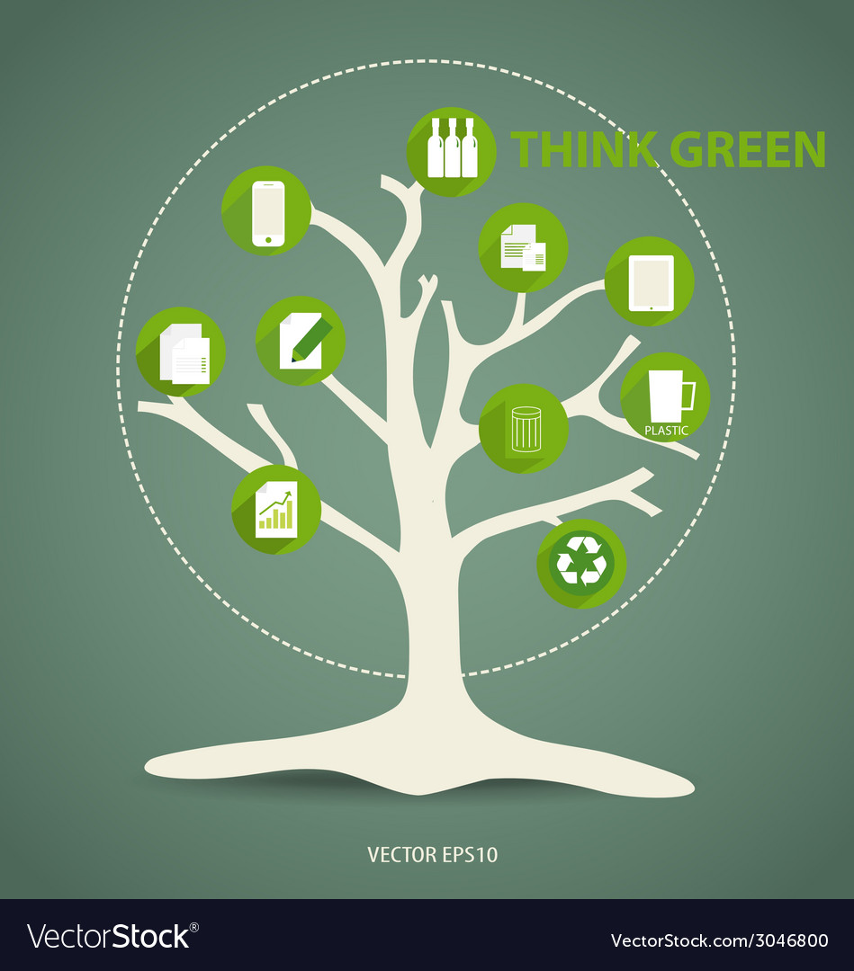 Ecology infographics design elements vector