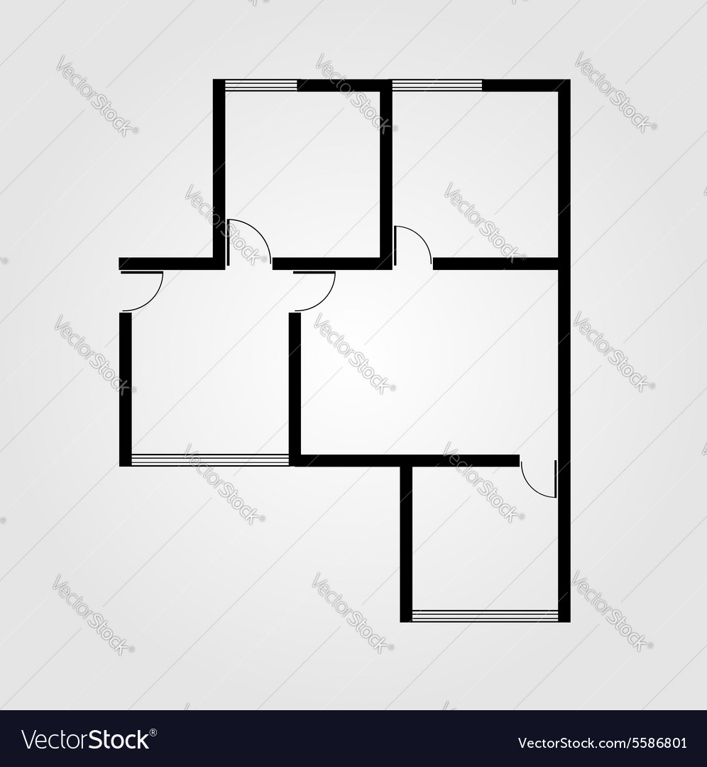 Plan of a small house vector
