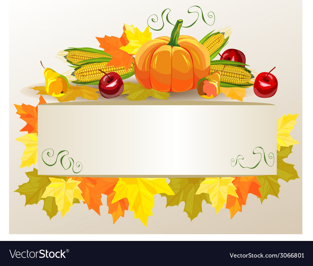 Thanksgiving celebration banner vector
