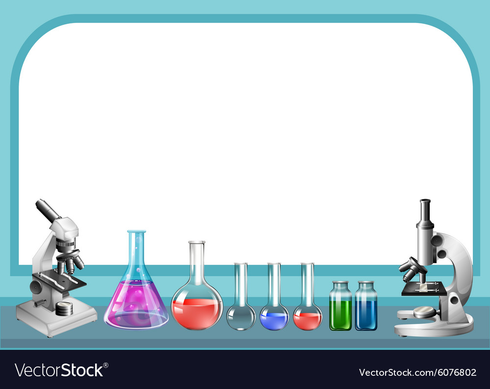 Science tool and frame vector