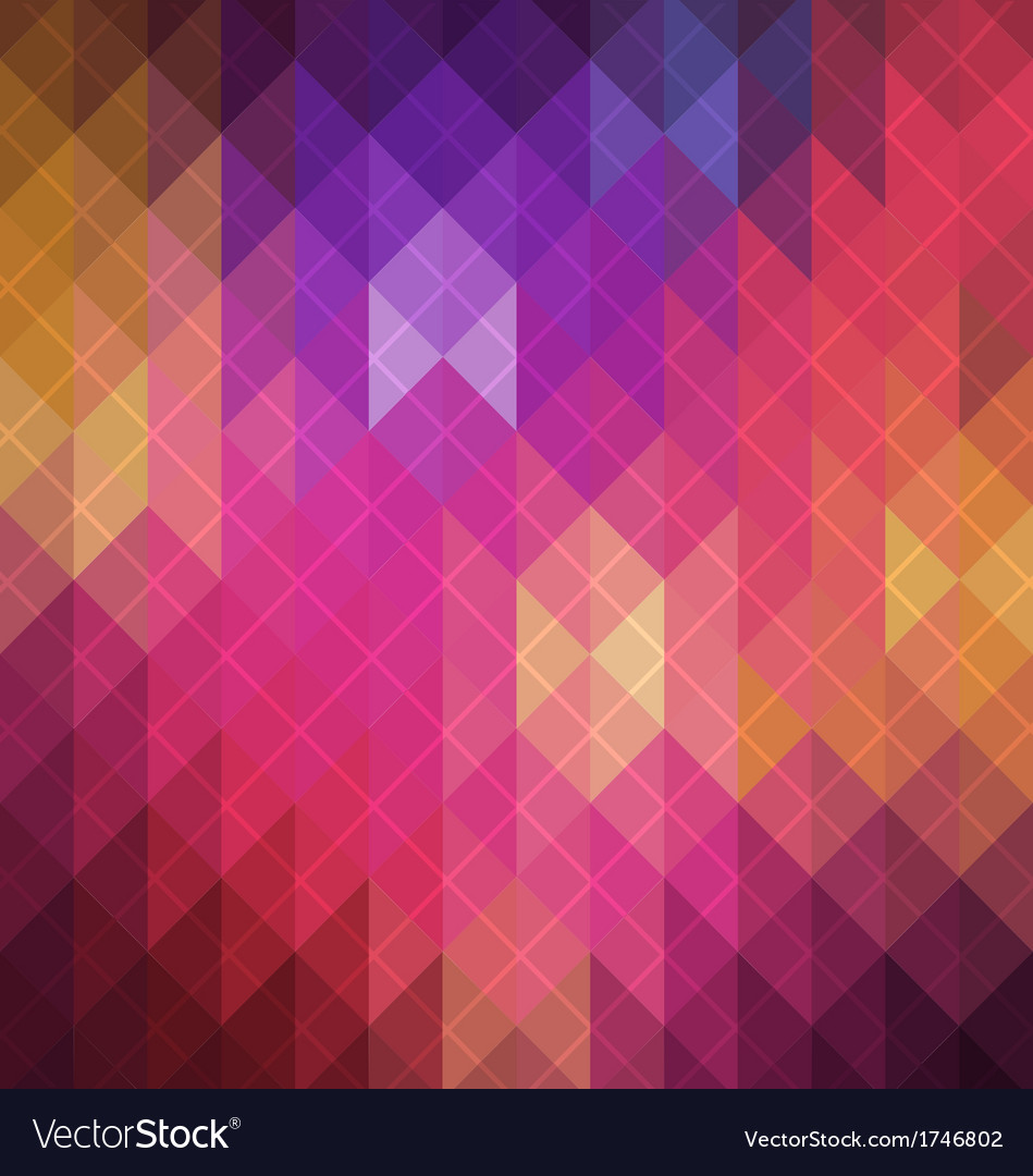 Spectrum retro geometric pattern vector