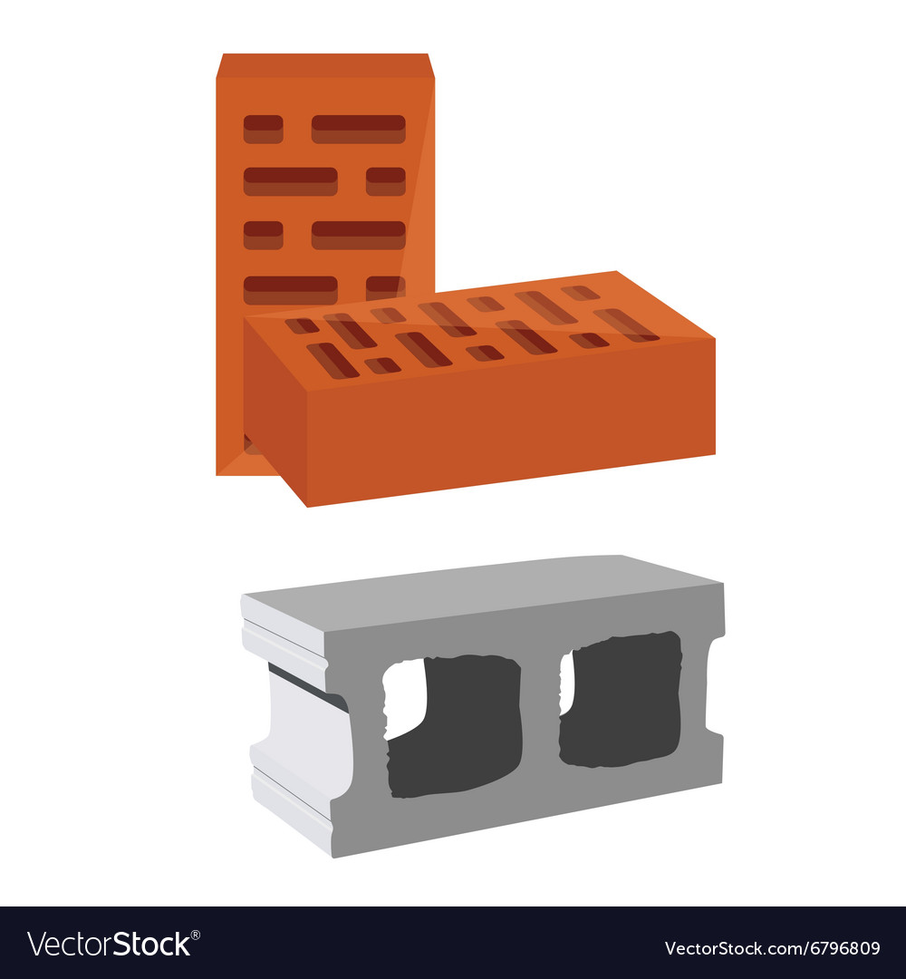 Brick and cement block vector