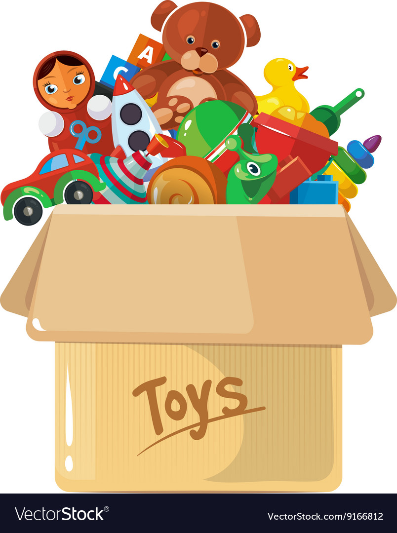 Cardboard box for children vector