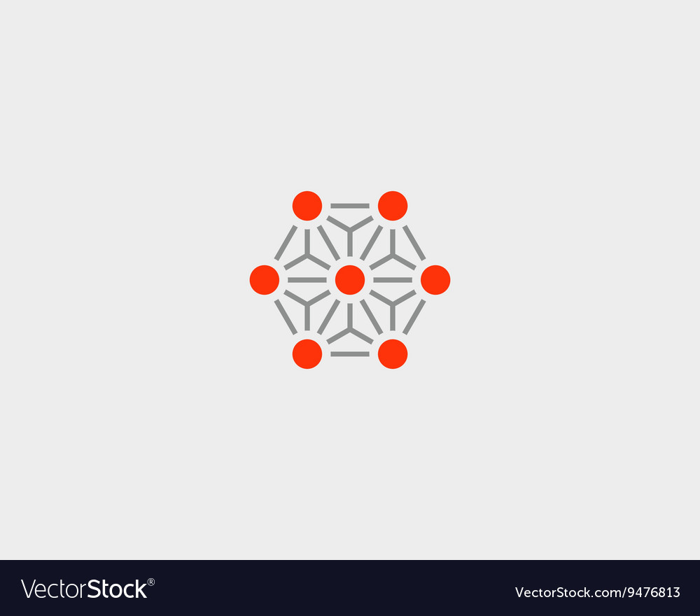 Abstract social media network biotechnology vector