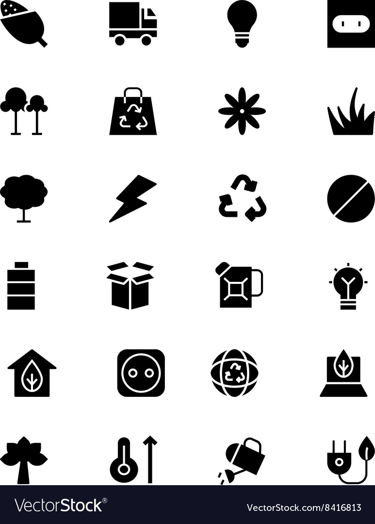 Ecology icons 4 vector